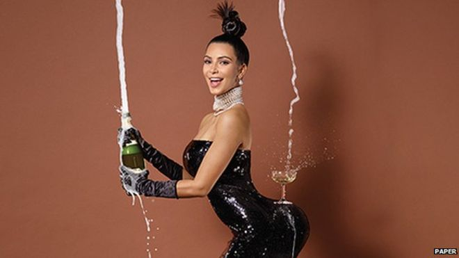 Kim kardashians bum broke the internet